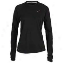 Nike Wool Dri-fit Crew - Womens - Black/reflective Silver