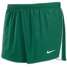 "Nike Woven 2"" Split-leg Short - Mens - Dark Green/white/white"