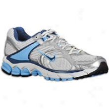 Nike Zoom Equalon+ 4 - Womens - White/blue/silver/grey