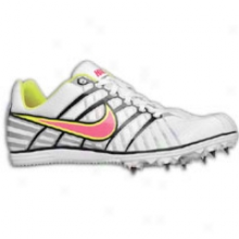 Nike Zoom Rival D 6 - Womens - White/black/metallic Silver/pink Flash