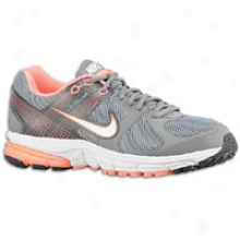 Nike Zoom Structure Triax + 15 - Womens - Somewhat cold Grey/bright Mango/anthracite/white