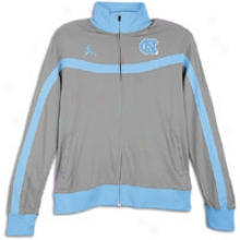 North Carolina Jordan Hyped Elite Authentic Plan Jacket - Mens - Dark Steel Grey