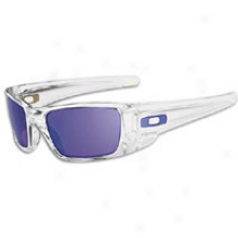 Oakley Fuel Enclosed space Sunglass - Mens - Polished Clear/violet Iridium