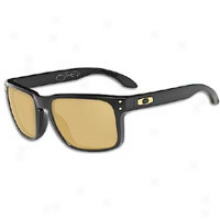 Oakley Holbrook Sunglass - Mens - Polished Black/24k Gold Iridium