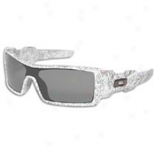Oakley Oil Rig Sunglass - Mens - White/text Print/grey