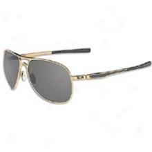 Oakley Plaintiff Sunglass - Mens - Polished Gold/dark Grey