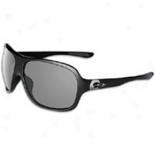 Oakle Undsrspin Sunglass - Womens - Polished Black/grey Polarized
