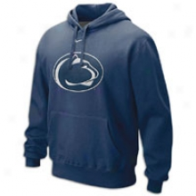 Penn State Nike Collebe Big Logo Fleece Hoodie - Mens - Navy