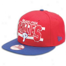 Phillies New Era Mlb Word Stripe Snapback Cap - Mens - Red