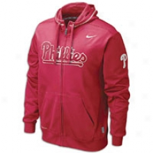 Phillies Nike Mlb Therma-fit Fleece Fz Hoodie - Mens - Red