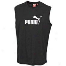 Puma #1 Logo S/l T-shirt - Mens - Black/white