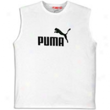 Puma #11 Logo Sleeveless Tee - Mens - White/black