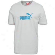 Puma #1 Logo S/s T-shirt - Mens - High Rise/blue Danube