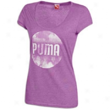 Puma Brand Scoup Neck S/e T-shirt - Womens - Hyacinth Violet