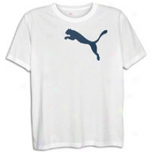 Puma Cat S/s T-shirt - Mens - White/new Navy
