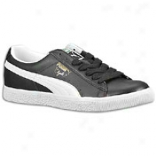 Puma Clyde Leather Fs - Mens - Bkack/white