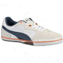 Puma Esito Vulc Sala - Mens - White/dark Navy/team Orange