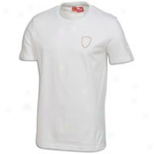 Puma Ferrari Small Logo S/s T-shirt - Mens - White