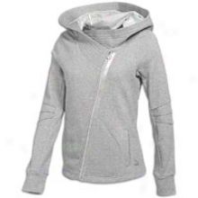 Puma Hooded Lux Cover Up - Womens - Athletic Grey Heather