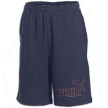 Puma Jersey Long Bermuda Short - Mens - New Navy