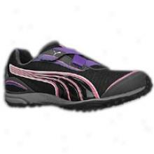 Puma Lakos 2 Tr - Womens - Black/heliotrope/fluro Pink