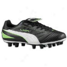 Puma Liga End I Fg - Womens - Black/white/fluorescent Green