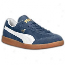 Pima Liga Suede - Mens - New Navy/white