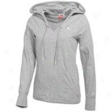 Puma Lightweight Cover Up Rise aloft - Womens - Athletic Grey Heather