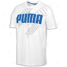 Puma Logo S/s T-shirt - Mens - White