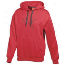 Puma Poly Fleece Pullover Hoodie - Mens - Ribbon Red