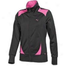 Puma Poly Track Jacket - Womens - Black/raspberry Rose