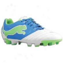 Puma Powercat 3.12 Fg - Womens - White/puma Royal/green Flash