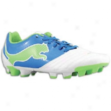 Puma Powercat 4.12 Fg - Womens - White/puma Royal/green Flash