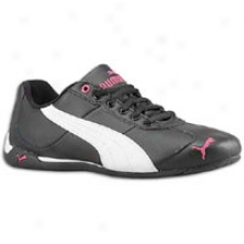 Puma Repli Cqt Iii Leather - Womens - Black/white/raspberry