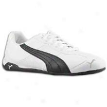 Puma Repli Cat Iji Leather - Womens - White/black/silver-puma Silver