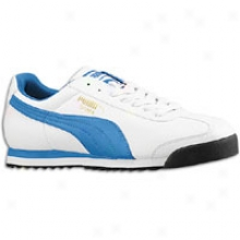 Puma Roma Basic - Mens - White/palace Blue/new Navy