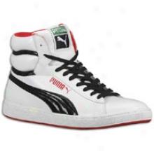 Puma Rs Hi Le - Mens - White/black/ribbon Red