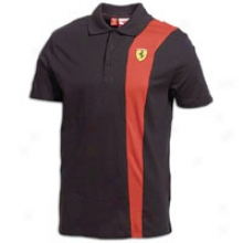 Puma Sf Polo - Mens - Black/rosso Corsa