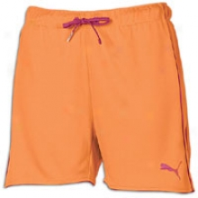 Puma Soccer Rollover Short - Womens - Orange/berry