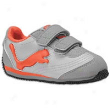 Puma Speeder Illuminescent V - Toddlers - Grey Violet/limestone Grey/cherry Tomato