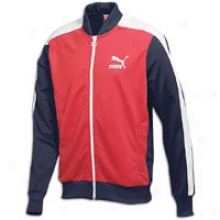 Puma T7 Basrball Jacket - Mens - Red/navy/white