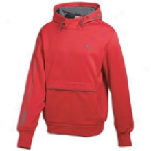 Puma Tech Graphic Hooded Fleeece - Mens - Ribbon Red