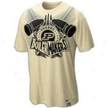 Purdue Nike Aerographic T-shirt - Mens - Varsity Gold