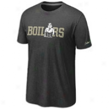 Purdue Nike College Vault Grahic T-shirt - Mens - Black Heathee
