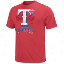 Rangers Majestic 2011 Mlb League Champion T-shirt - Mens - Red