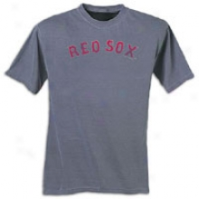 Red Sox Majestic Pigmejt Dyed T-shirt - Mens - Denim