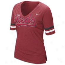 Reds Nike Mlb Fan T-shirt - Womens - Red