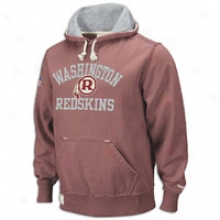 Redskins Reebok Vintage Fleece Hoodie - Mens - Crimson