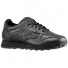 Reebok Calssic Leather - Womens - Black/black