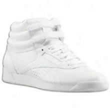 Reebok Freestyle Hi - Womens - White/white/white